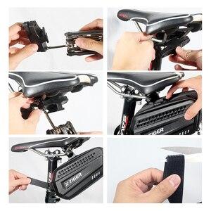 Image 5 - Sac de selle de vélo résistant à la pluie, pour vtt, tige de selle arrière de grande capacité, antichoc, accessoires de bicyclette, X TIGER