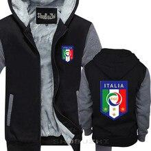 Włochy męska piłkarz legenda Soccers gruba kurtka bawełniana zima jesień nowy kostiumy dla mężczyzn shubuzhi bluza z kapturem sbz5472