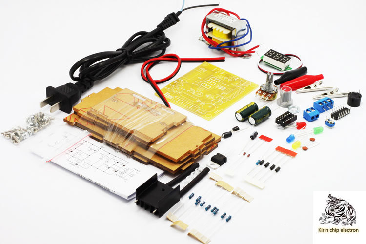 1pcs / Lot LM317 Adjustable Stabilized Voltage Power Board Kit Power Supply Training Kit Electronic DIY Production Parts