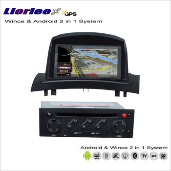 Liorlee For Renault Megane II 2008-2010 Car Android Multimedia Radio CD DVD Player GPS Navi Map Navigation Audio Video Stereo image