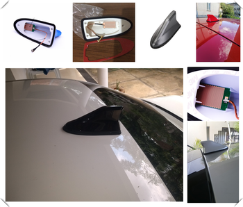 Universal Car SUV Retrofit Shark Fin Antenna Auto parts Roof Radio for BMW E38 E91 E53 E70 X5 M M3 M8 M550i M550d M4 M3 E92 image