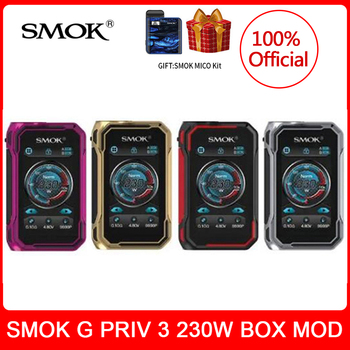 цена на [kit gift] SMOK G-PRIV 3 Box Mod 230W Touch Screen Vaporizer vape E-Cigarette Support TFV16 LITE Tank VW/TC Mode vs x-priv