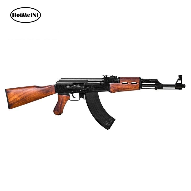 HotMeiNi 15cm X 4.6cm Gun Shaped Magnet AK-47 Rifle Vinyl Decal Magnetic Window Bumper Sticker Personality 3D Car Stickers
