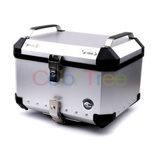 Universal 36L/40L/50L/60L Motorcycle Detachable Rear Storage Box Tail Luggage Trunk Case Toolbox Scooter Motorbike CNC Aluminum