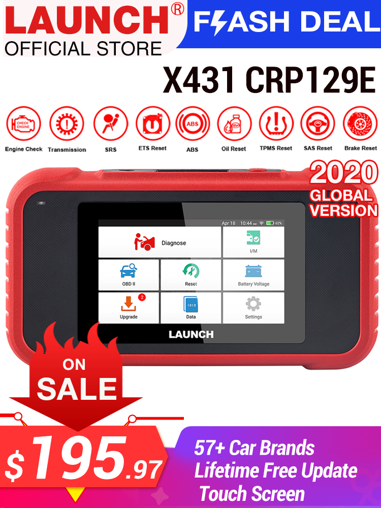 Diagnostic-Tool Launch X431 Creader Viii Free-Update OBD2 CRP123 Multi-Language for ABS/SRS