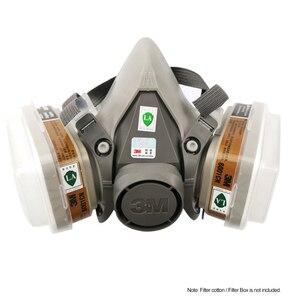 Image 2 - 3M 7 في 1/17 في 1 6200 الصناعية نصف الوجه اللوحة الرش التنفس قناع واقي من الغاز دعوى سلامة العمل تصفية الغبار قناع استبدال