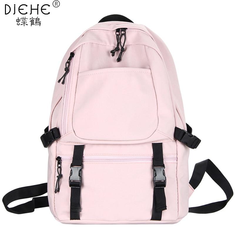 Women Backpack Waterproof Nylon Female Large Capacity High Schoolbag Korean Fashion Teenager Girls Shoulder Bags Travel Mochila