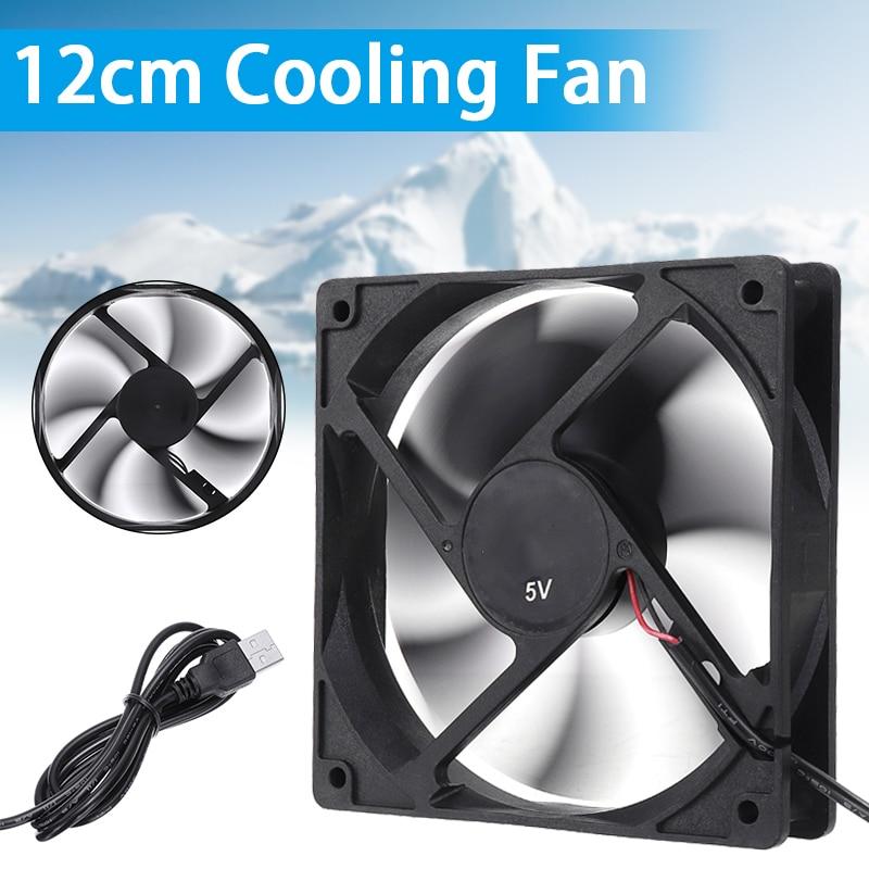 Computer CPU Silent Cooling Case Fan 120x120mm 5V USB Fan Cooler For Desktop PC CPU Cooling Cooler Fan