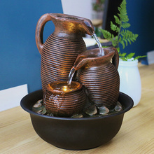 Simple living room water fountain decoration feng shui ball water feature Rockery office desktop decor Home