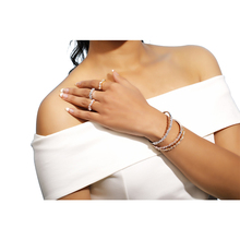 Fashion Lady's Open Bracelet RingSix Piece Sets with TriangularStones Micro Inlay BeadedZircon bracelet rings a popular bracelet