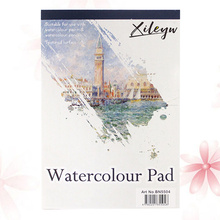 Watercolor Pad Watercolor Painting Special Painting Book Castle Themed Watercolor Painting Book Supplies (A4 White)