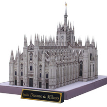 Italy Milan Cathedral Folding Cutting Mini 3D Paper Model House Papercraft DIY Kids Adult Handmade Craft Toys QD-172