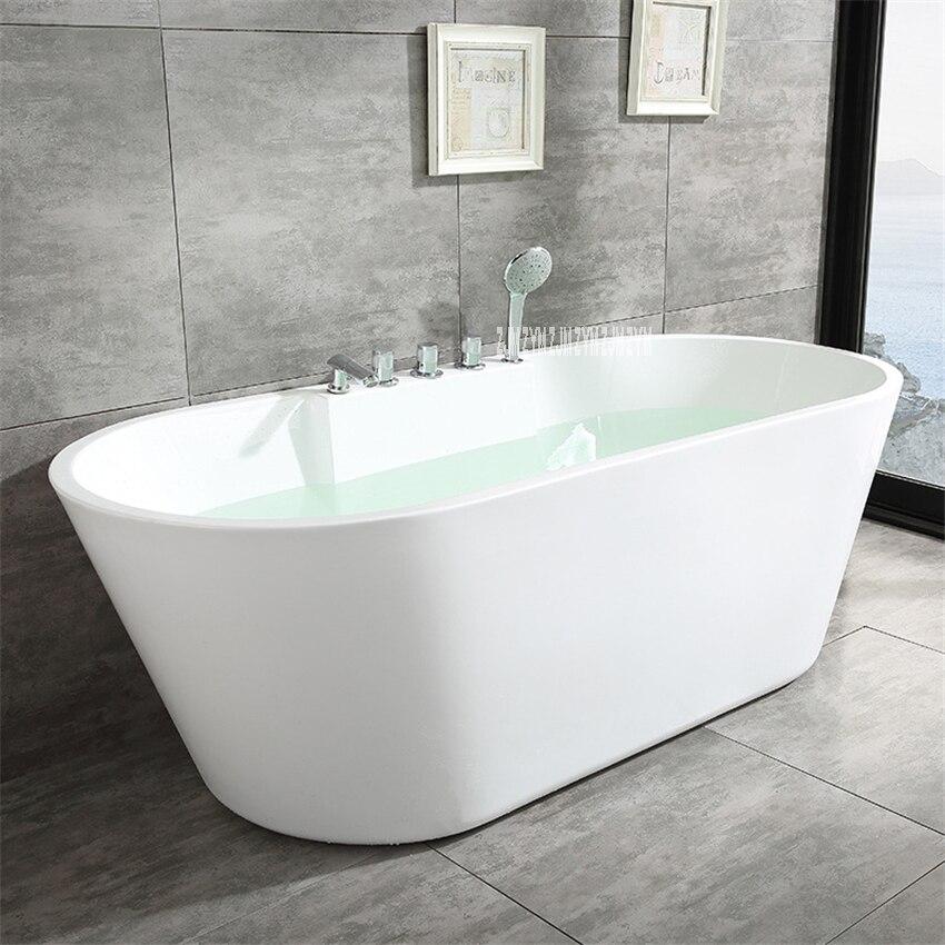SY-2013 1.5m adulto acrílico casa banheira oval autônoma banheira moderna do banheiro s-armadilha com torneira de cobre ferragem parte-0