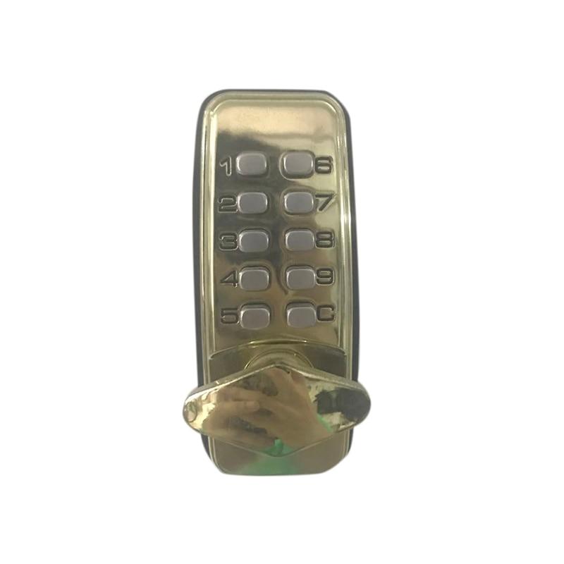 Mini Mechanical Button Door Lock Waterproof Mechanical Password Lock Door Lock Wooden Door Office Home Door Password Lock