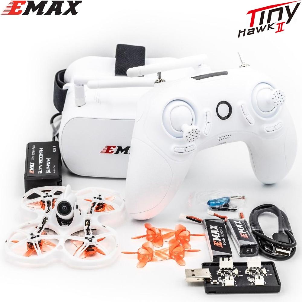 EMAX Tinyhawk II 75mm 1-2S Whoop FPV Racing Drone RTF / BNF FrSky D8 Runcam Nano2 Cam 25/100/200mw VTX 5A Blheli_S ESC