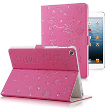 Hello Kitty PU Leather Soft Back Case For iPad 9.7 2017 2018 A1822 A1893 Transformer Smart Cover Funda Tablet Folding