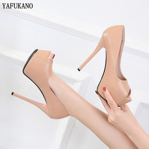 12 Cm Sexy Womens Pumps Spring Peep Toe Platform Shallow Mouth Single Shoes Fashion Thin Heels High Heels Party Wedding Shoes