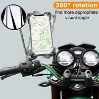 XMXCZKJ Motorrad Handphone Halter 360 Drehbare Lenker Fahrrad Telefon Halter Rückspiegel Handy Halter Für iPhone Xr