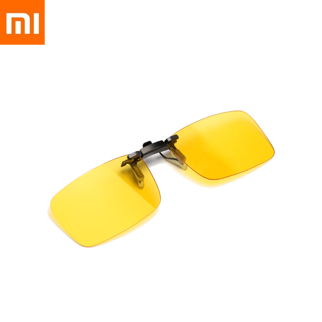 2020 Xiaomi Mijia TS Driver Eye Lenses Night Vision Clip Piece TAC Lens Anti-skid 135° Flip Up Men Women Driving Rain Hazy Xiomi