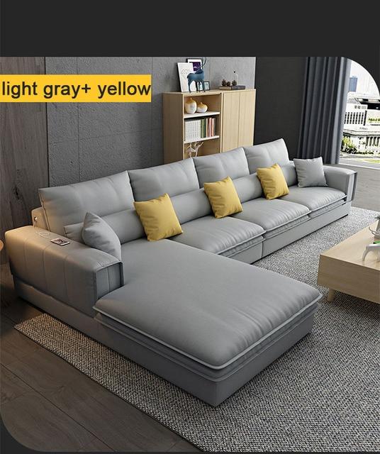 Modern Living Room Sofa L Shaped 5