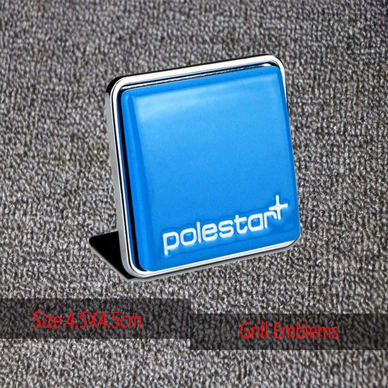 3D автомобиля Стикеры Polestar эмблема значок Логотип Автомобильная эмблема багажник Стикеры для VOLVO S60 V60 S80 XC60 XC90 XC70 V40 S40 V70 - Название цвета: 4.5x4.5 CM