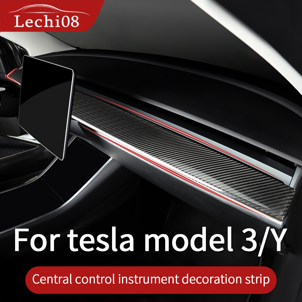 Instrument panel trim for tesla model 3 accessories car model y model 3 tesla three tesla model 3 carbon accessoires model3