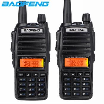 2pcs Baofeng UV-82 Walkie Talkie + NA771 Antenna UHF VHF Dual Band Two Way Radio UV 82 Dual PTT Woki Toki CB Ham Radio Station