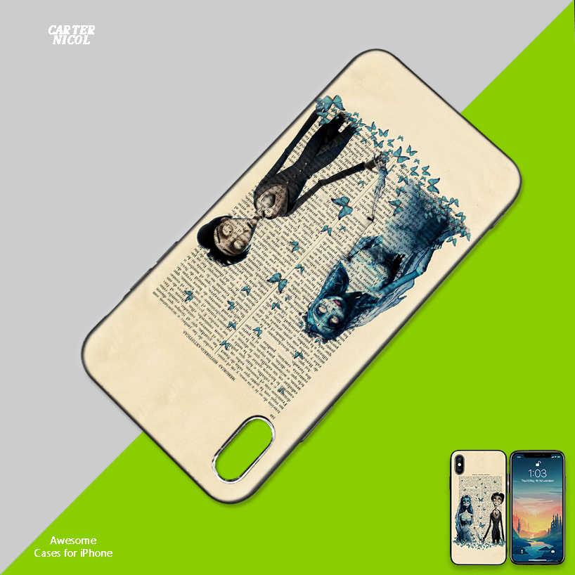 Silicone Case Shell for IPhone XR XS Max X 7 8 6 6S Plus 11 11Pro Max 5 5S SE 5C 7Plus 8Plus Cover Tim Burtons Corpse Bride Case