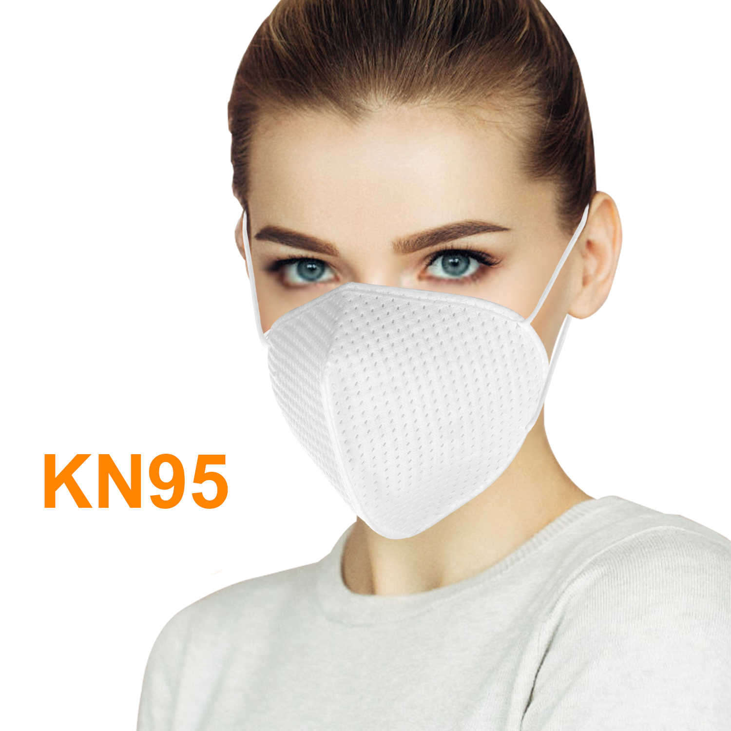1pc Outdoor Cycling Face Mask KN95 Face Mask 4-Layer Filter Soft Breathable Respirator Protective Mask Filtering 95% Particles
