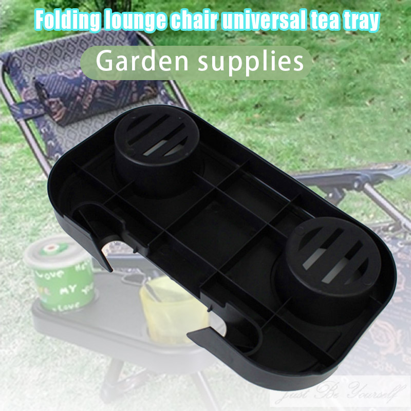 NEW Portable Folding Camping Picnic Outdoor Beach Garden Chair Side Tray Holder for Drink