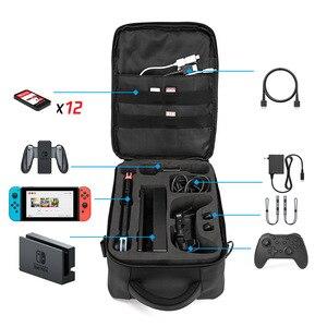 Image 4 - Mallette de transport pour interrupteur, mallette de voyage dure mais légère de protection pour 12 cartouches de jeu, Joy Con autres accessoires