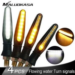 Motorcycle DRL Turn Signal Light 15LED Flowing Water Blinker Dual-use Running/Turning Tail Flashing Indicator LED Turn Signals
