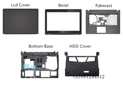 New Original For Lenovo Y400 Y400N Y410P Y430P LCD Rear Top Lid Back Cover/Palmrest Upper Case /LCD Bezel/Bottom Base