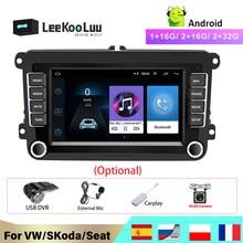 LeeKooLuu 2 Din Android Auto Radio GPS Für VW / Volkswagen Skoda Octavia golf 5 6 touran passat B6 polo jetta 2Din Radio Coche
