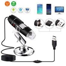 أوسب مجهر رقمي 500X 1600X التكبير 8 مصباح ليد كاميرا صغيرة المكبر التفتيش كام المنظار المنزل المدرسة ستيريو المجاهر
