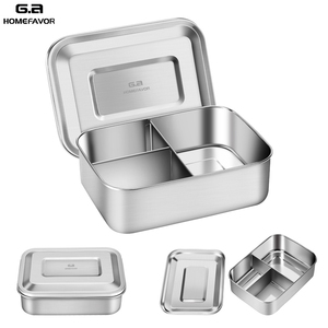 Image 1 - Stainless Steel Lunch Box With 3 Compartments Factory Food Container Bento Box Fruit Cake Snack Storage Box