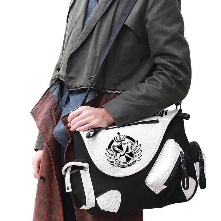 Fashion Shoulder Bag Anime  Danganronpa Monokuma Crossbody Canvas Bags School Bag Unisex Casual Messenger Bag
