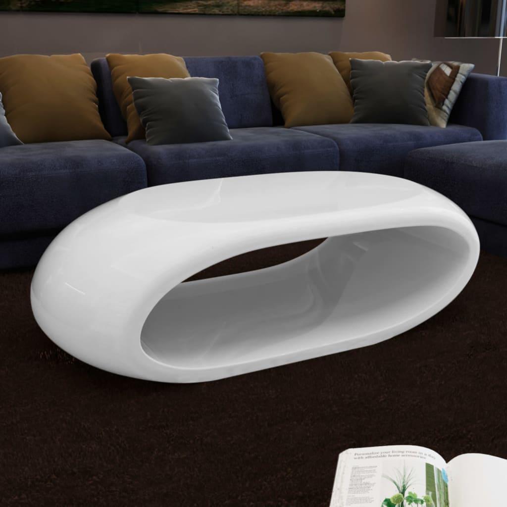 VidaXL Coffee Table Fibre Glass High Gloss White
