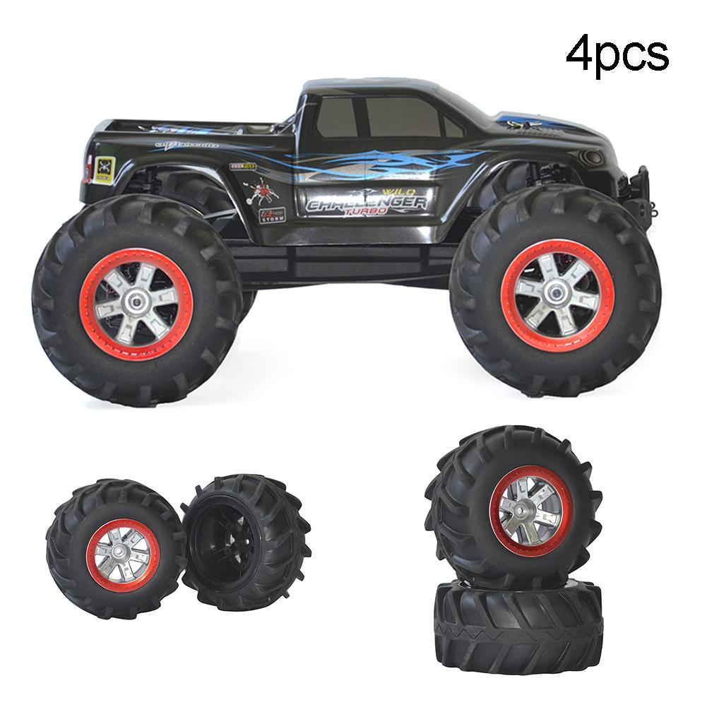 4Pcs Rubber Upgraded Tyres Spare <font><b>Parts</b></font> for <font><b>S911</b></font> 9115 1/12 <font><b>RC</b></font> Off-road Car Toy New image