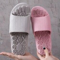2019 chinelos de verão indoor antiderrapante massagem sapatos unissex sólido macio fundo casal chinelos casa sandálias homens pontos de massagem