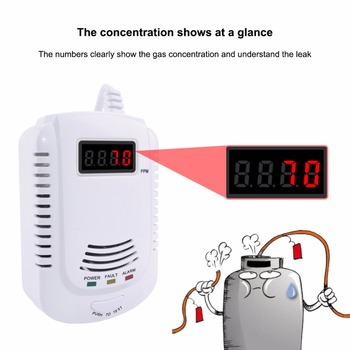 цена на Gas Leak Detector Combustible Propane Butane Methane Natural Gas Safety Alarm Sensor Warning EU Plug
