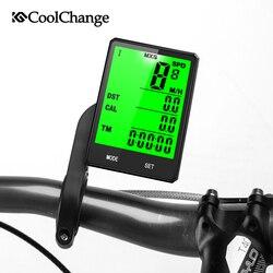 CoolChange À Prova de Chuva Ciclismo Bicicleta Computador de Bicicleta Sem Fio Da Bicicleta Computer Odômetro Velocímetro Cronômetro Temperatura Mensurável