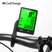 CoolChange Wireless Bike Computer Speedometer Odometer Rainproof  Cycling Bicycle Measurable temperature Stopwatch