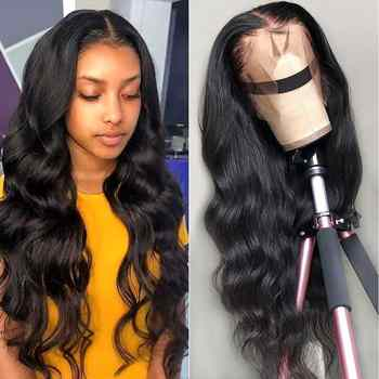 13*4 Lace Front Human Hair Wigs 150% 180% 200% Density Non-Remy Pre Plucked Brazilian Body Wave Lace Front Wig For Black Women - DISCOUNT ITEM  50% OFF All Category