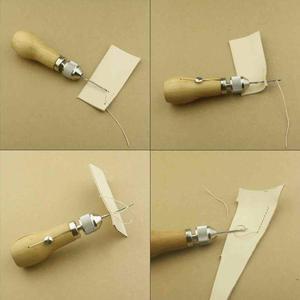 Leder Nähen Kit Nadel und Gewachst Faden Leder Segel Leinwand Schwere Reparatur Professionelle Schnelle Stitcher Nähen Ahle Werkzeuge