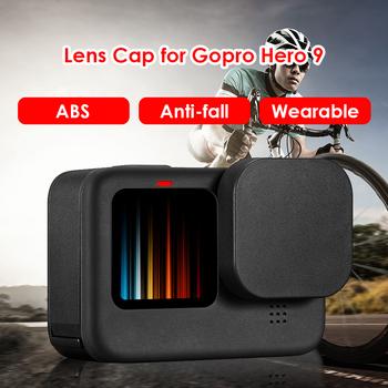 Miękki silikon odporny na upadek osłona obiektywu osłona dla Gopro Hero 9 czarna osłona Protector osłona kamery akcesoria do kamer Shell tanie i dobre opinie alloet Lens Cap CN (pochodzenie) Zestaw akcesoriów Protector for Gopro Lens Cap Guard for Gopro 35 X 35 X 5mm 1 38 X 1 38 X 0 2