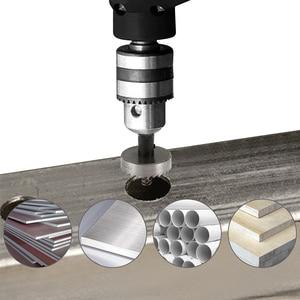 Image 3 - 13PCS HSS Bohrer Bit Set High Speed Stahl Hartmetall Spitze Loch Sah Zahn Cutter Metall Bohren Hand Holz Schneiden zimmerei Kronen
