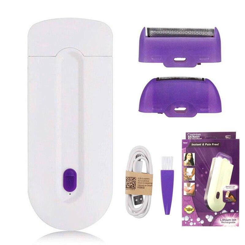 Frauen Laser Wiederaufladbare Epilierer Remover Glatte Touch Haar Entfernung Instant Schmerzen Kostenloser Rasiermesser Sensor-Licht Technologie Haar Entfernen