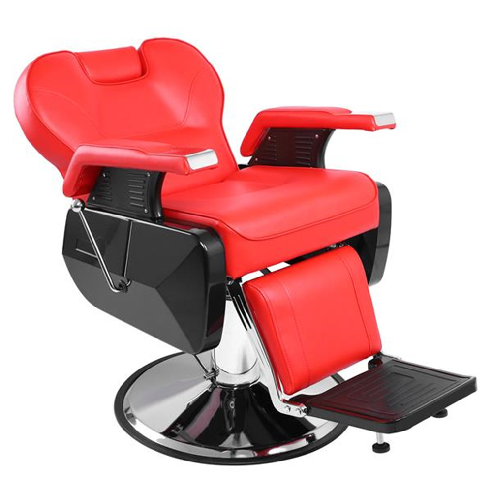 Hot Sales Professional Salon Barber Chair 8702A Red Classic Hydraulic Recline Hair Salon Adjustable Back For Barbershop