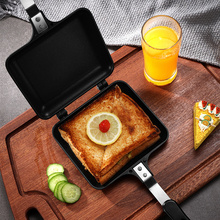 Aluminum Double Side Bread Toaster Panini Sandwich Grill Mould Bakeware Breakfast Machine Maker Frying Pan Waffle Baking Form